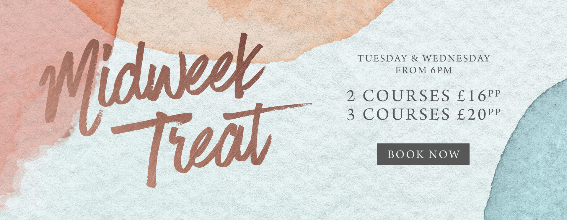 Midweek treat at The Riverside - Book now